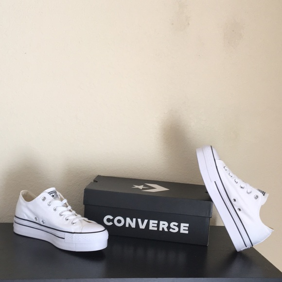 f0d0f7d9fbe Converse white platform all star shoes chucks